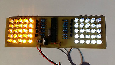 2PCS of Emergency Light Effects Assembled PCB Strobe Flash 9V powered 50LEDs