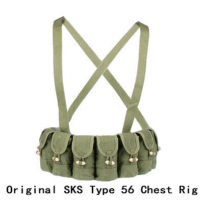 Surplus Original Chinese Military SKS Type 56 Semi Chest Rig Bandolier Pouch