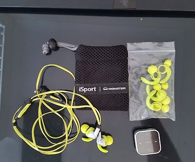 Monster Cable Products iSport Intensity Green Earbuds Cable Headphones