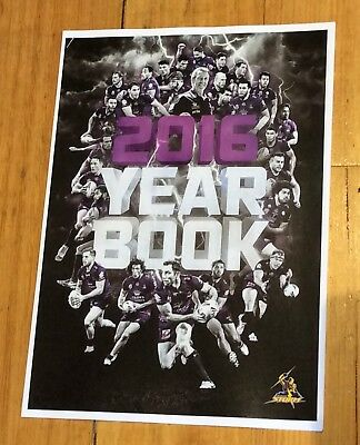Melbourne Storm 2016 NRL Year Book New Free Post