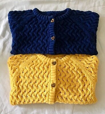 Mothercare Cardigans Mustard Yellow And Navy 12-18