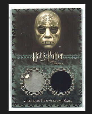 Harry Potter Order of the Phoenix Prop Costume Card P10 Death Eater Mask #07/90