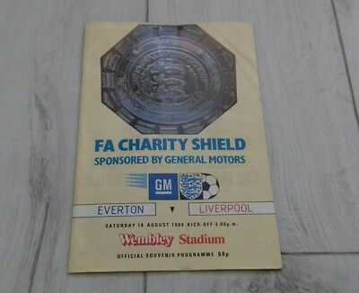 542) Everton v Liverpool programme charity shield 18-8-1984
