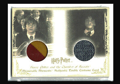 Harry Potter Memorable Moments 1 Dual Costume Card DC3 Daniel Radcliffe #048/360