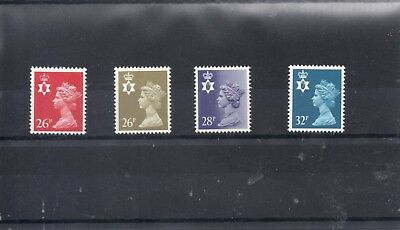 GB  QEII NORTHERN IRELAND 1971/93 SG NI60 to NI62 + NI65  m/m