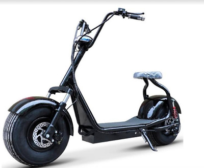 Harley Electric Citycoco Scooter Fat Tire E-Wheels 1000W BLACK HIGH QUALITY NEW