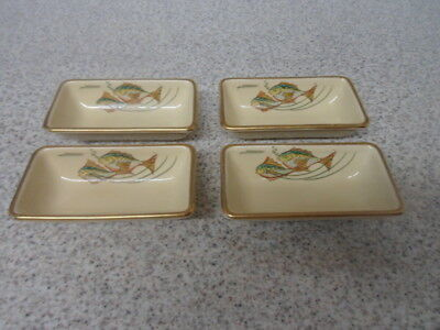 Very Rare Gray's Pottery Dishes 1937/1938 Hors d'oeuvres / Starter - Set of 4