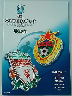 2005 Uefa Super Cup Liverpool v CSKA Moscow Mint condition