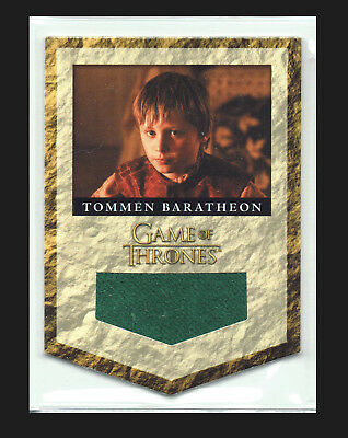 Game of Thrones Season 2 House Banner Relic Card RB5 Tommen Baratheon #127/300