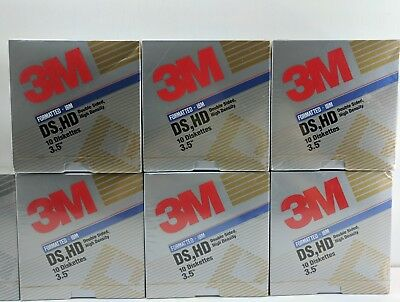 NEW Lot of 9 3M  3.5  inch DS DD and DS HD  Diskettes