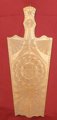 Vintage Hand Carving Wood Bread Cheese Chopping Board