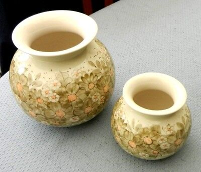 Jersey Pottery Channel Islands Vase x 2