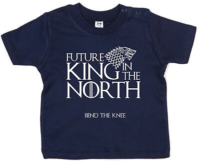 "Baby Game of Thrones T-Shirt ""Future King in the North"" Funny GOT Tee Gift"