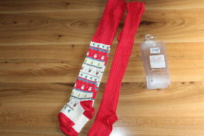 NEXT girls Christmas tights x 2 3-4 years NEW *I'll combine postage