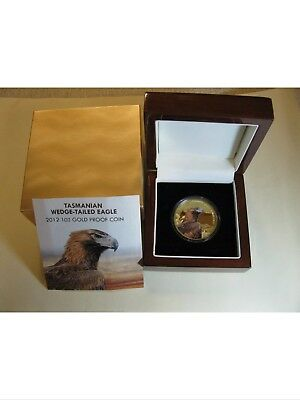 2012 Niue Endangered Tasmanian Wedge Tailed Eagle 1oz Gold Proof Coin $100