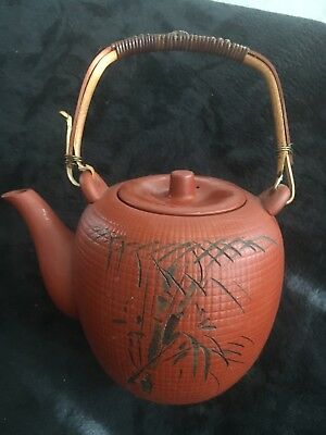 Vintage Clay Chinese Teapot (Bamboo)