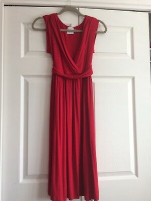 Asos Red Maternity Dress Size 8