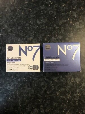 No7 Lift & Luminate Triple Action Day Cream 50ml And Night Cream 50ml.