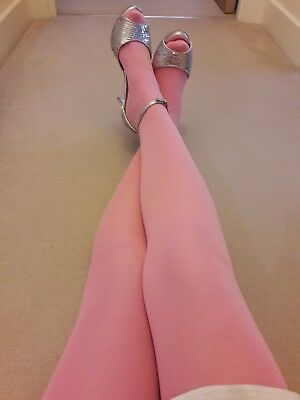 **Soft Pink **Barbie Girl** Opaque Tights **60 Den**New**