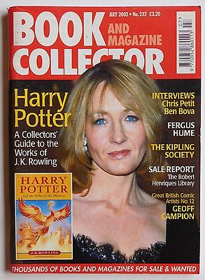 BOOK & MAGAZINE COLLECTOR #232 - 7/2003 - Harry Potter, Geoff Campion