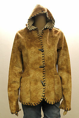"#4783 Prana Brown Toggle Hooded Jacket Womens Small 38"" Bust"