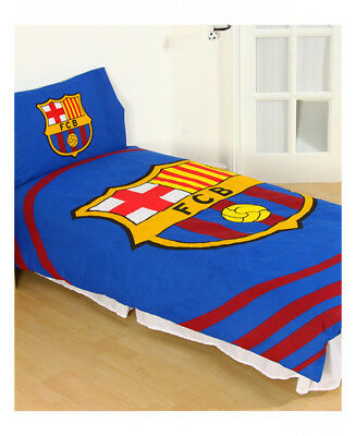 Barcelona FC 'Pulse' Single Duvet Cover and Pillowcase Set Official Merchandise
