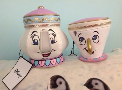 Disney Primark Mrs Potts And Chip Money/ Coin Purses New With Tags