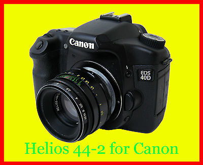 Helios 44-2  f/2/58mm Lens Canon EOS with confirmation chip,full CLA,Exellent