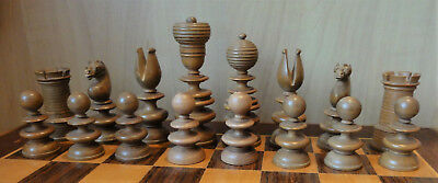 Antique English Chess Set, St George Pattern
