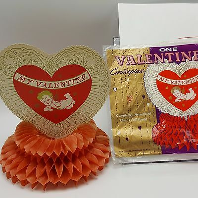 Beistle Valentine Centerpiece Tissue Honeycomb Heart Cupid USA