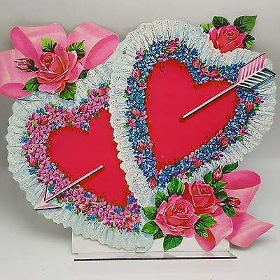 Lace Heart Rose Cardboard Wall Decor Cutout Valentine Carrington Co Mass