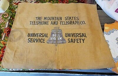 Awesome Mountain States Telephone & Telegraph Bell System Vintage Canvas Sign
