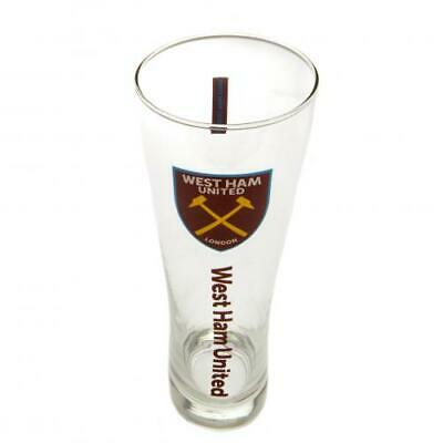 West Ham United FC Official Football Gift Tall Beer Glass