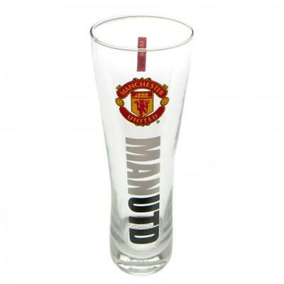 Manchester United FC Official Football Gift Tall Beer Glass