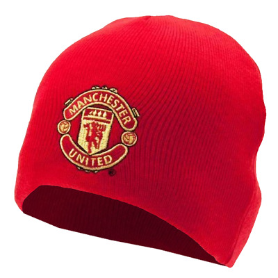 52bbba5e663 Manchester United FC Official Football Gift KIDS Knitted Reversible Beanie  Hat