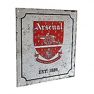 Arsenal FC Official Football Gift Retro Logo Sign