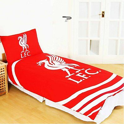 Official Liverpool FC 'Pulse' Single Duvet Cover and Pillowcase Set …