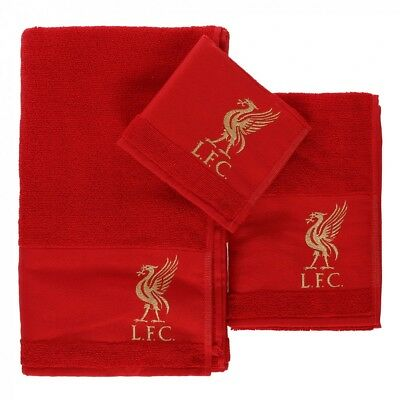 Liverpool FC Official Football Luxurious Gift 3 pack Embroidered Jacquard Towel
