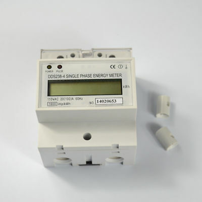Single Phase DIN-rail Type Kilowatt Hour kwh Meter 110V 60Hz 20(100)A