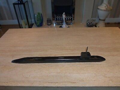 Large home made wooden model Submarine 29 inches in length            Folkart