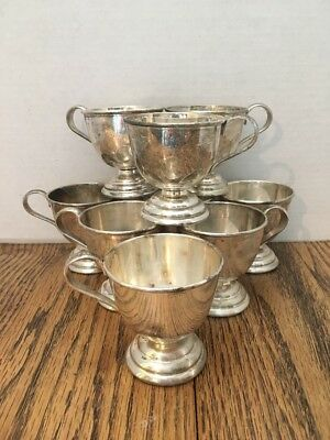 Nickel Silver Punch Cups 9 Total