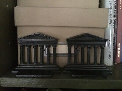 Pair Of Greek Acropolis Cast Iron heavy Bookends, Restoration Hardware