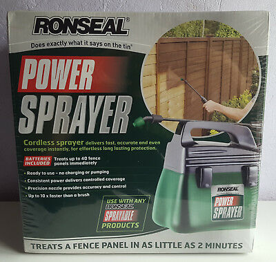 Ronseal Cordless Power Sprayer, Battery Powered, New & Sealed.