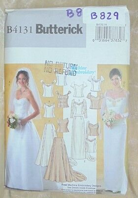 Butterick 4131 Misses Lined Top Skirt Bride Wedding Bridesmaid Size 6 8 10