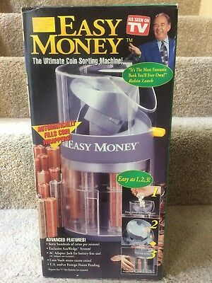 Easy Money Ultimate Coin Sorting Machine New In Box