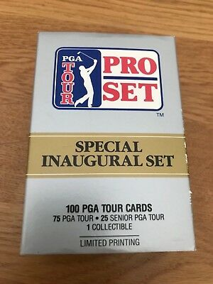 1990 PGA Tour Pro Set collectors cards - full set of 100, brand new