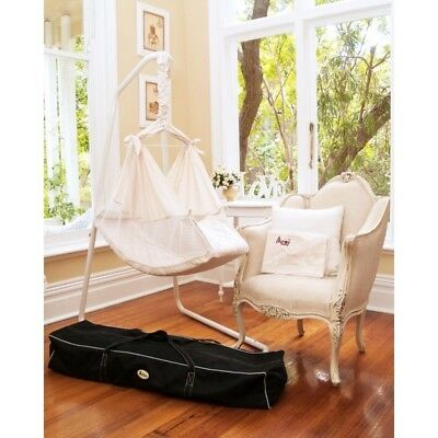 AMBY Nature's Nest baby hammock + bedding and travel carry bag