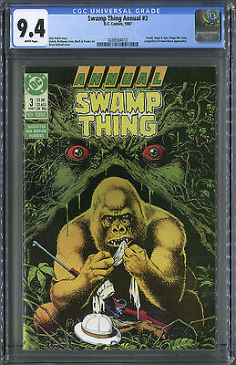 Swamp Thing Annual #3 (DC, 1987) Gorilla's crossover. Brian Bolland. Cgc 9.4