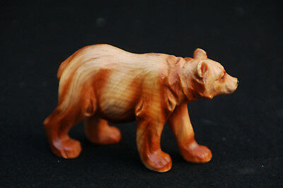 "Black Bear Carved Wood Look Figurine-- Poly Resin-- 4""L x 1 1/2""W x 2 1/2""H"
