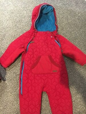 Ted Baker Snow Suit 12-18 months red excellent condition